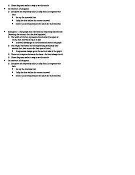 Histograms ISN Notes