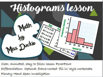 Histograms Lesson - Choose a resource for free if you review!