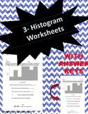 Histogram Worksheets (Three Worksheets)