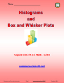 Histograms and Box and Whisker Plots - 6.SP.4