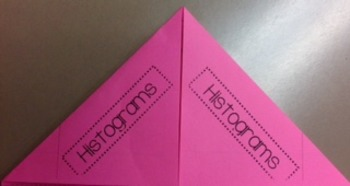 Histograms foldable