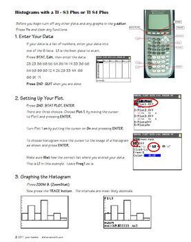 Histograms on the TI 84 TI 84 Plus Graphing Calculator
