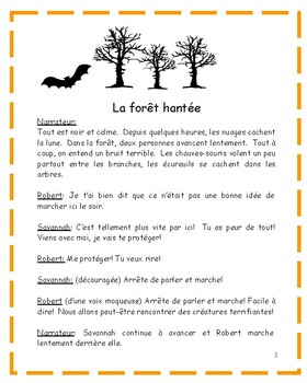 Histoire de la forêt hantée: French Halloween Story