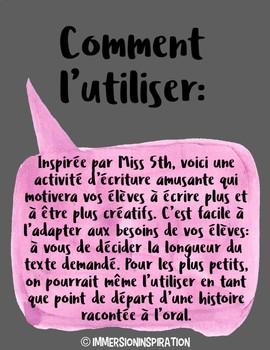 Histoire-émoji: a French Writing activity