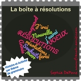 French futur tense, Writing about resolutions : a dialogue and activities