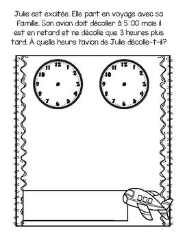 Histoires mathématiques-L'heure juste et à la demie