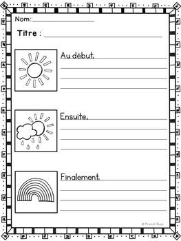 Histoires séquentielles - L'arc-en-ciel - French Sequencing Stories