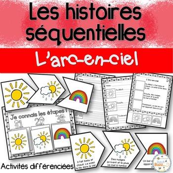 Histoires séquentielles - L'arc-en-ciel - French Sequencin