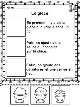 Histoires séquentielles - La crème glacée - French Sequencing Stories