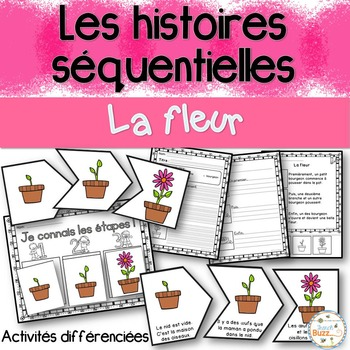 Histoires séquentielles - La fleur - French Sequencing Stories