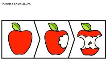 Histoires séquentielles - La pomme - French Sequencing Stories