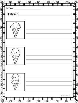 Histoires séquentielles - Le cornet de crème glacée - French Sequencing Stories