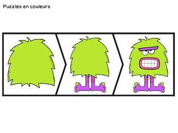 Histoires séquentielles - Le monstre - French Sequencing Stories