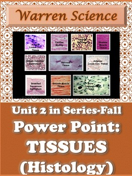 Power Point: Histology (Tissues)- Unit 2 in Series (Fall)