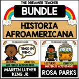 Historia Afroamericana: MLK Jr. y Rosa Parks | BUNDLE | Distance Learning