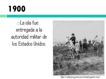 Historia de Puerto Rico Línea de tiempo 1900-1930