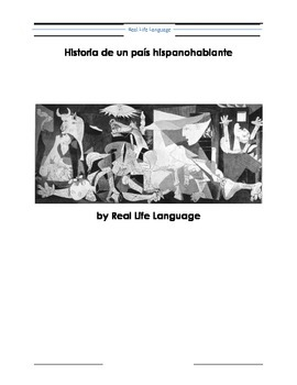 Historia de un país hispanohablante Research Project and Narration Cheat Sheets