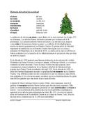 Historia del árbol de navidad: Spanish Reading on History of the Christmas Tree