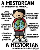 Historian Poster for Elementary Grades [someone who]