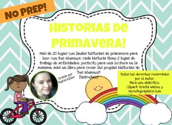 Historias de Primavera! Spring short stories! NO PREP!