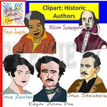 Literature / Literary clipart  Maya Angelou Shakespeare Jane Austen -Steinbeck
