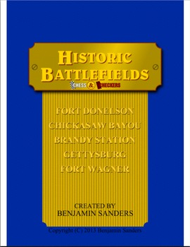 Historic Battlefields Chess and Checkers American Civil Wa