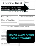 Historic Event Report Template