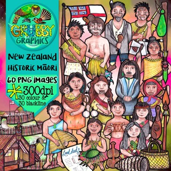 Historic Maori Clip Art