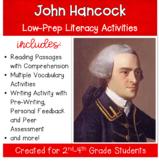 John Hancock : Social Studies with Literacy Activities Grades 3-5