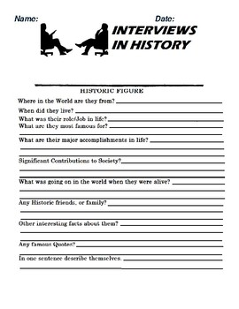 Historic Person Interview and Research Assignment (BLANK)