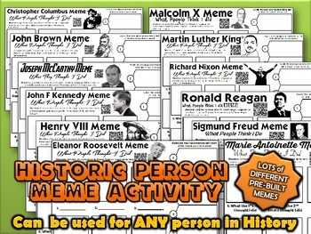 Historic Person Meme Activity Bundle