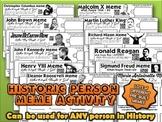 Historic Person Meme Activity Bundle
