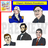 U.S History Presidents Clipart -Washington -Lincoln Roosev