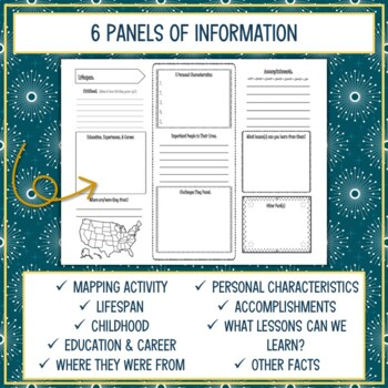 Historical Americans Biography Trifold Brochures