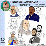 Clip Art: Historical Americans, American Historical Figures, Famous Americans
