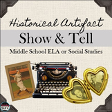 Historical Artifact Show and Tell: Speaking Activity for ELA & Social Studies