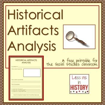 Historical Artifacts Analysis Printable - Graphic Organizer for Social Studies