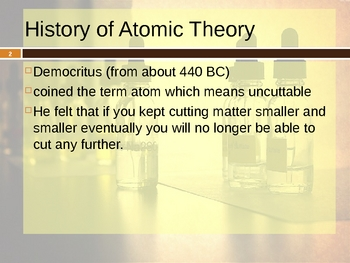 Historical Atom and Atomic Structure Presentation