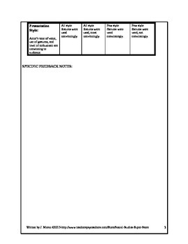 Historical Authentic Assessment: Video Production Rubric