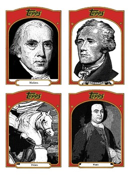 Historical Baseball Cards - Forming a Government and The Constitution