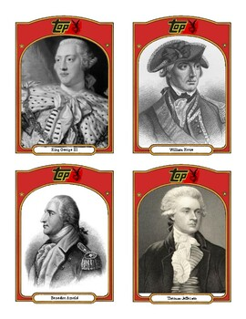 Historical Baseball Cards - Revolutionary War