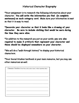 Historical Character Biography