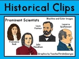 Historical Clips- Scientists-Pasteur, Redi, Spallanzani, Needham Clip Art