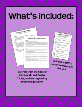 Historical Codes of Law lesson plan