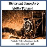Historical Concepts & Skills Posters, PPT + Assessment (Au