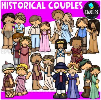 Historical Couples Clip Art Bundle {Educlips Clipart}