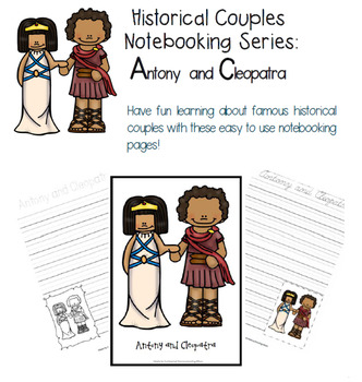 Historical Couples Notebooking Series Antony and Cleopatra