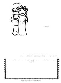 Historical Couples Notebooking Series Lancelot and Guinevere