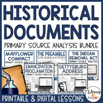 Historical Documents Primary Source Analysis BUNDLE