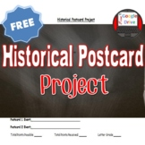 Historical Event Postcard Project FREE! (U.S. History)